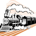 Stock illustration 23004462 old fashioned steam train in black and white large